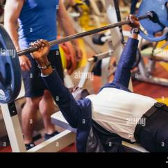 Gym Chest Chair Office Heated Back Support Press Stock Photos And Images Alamy