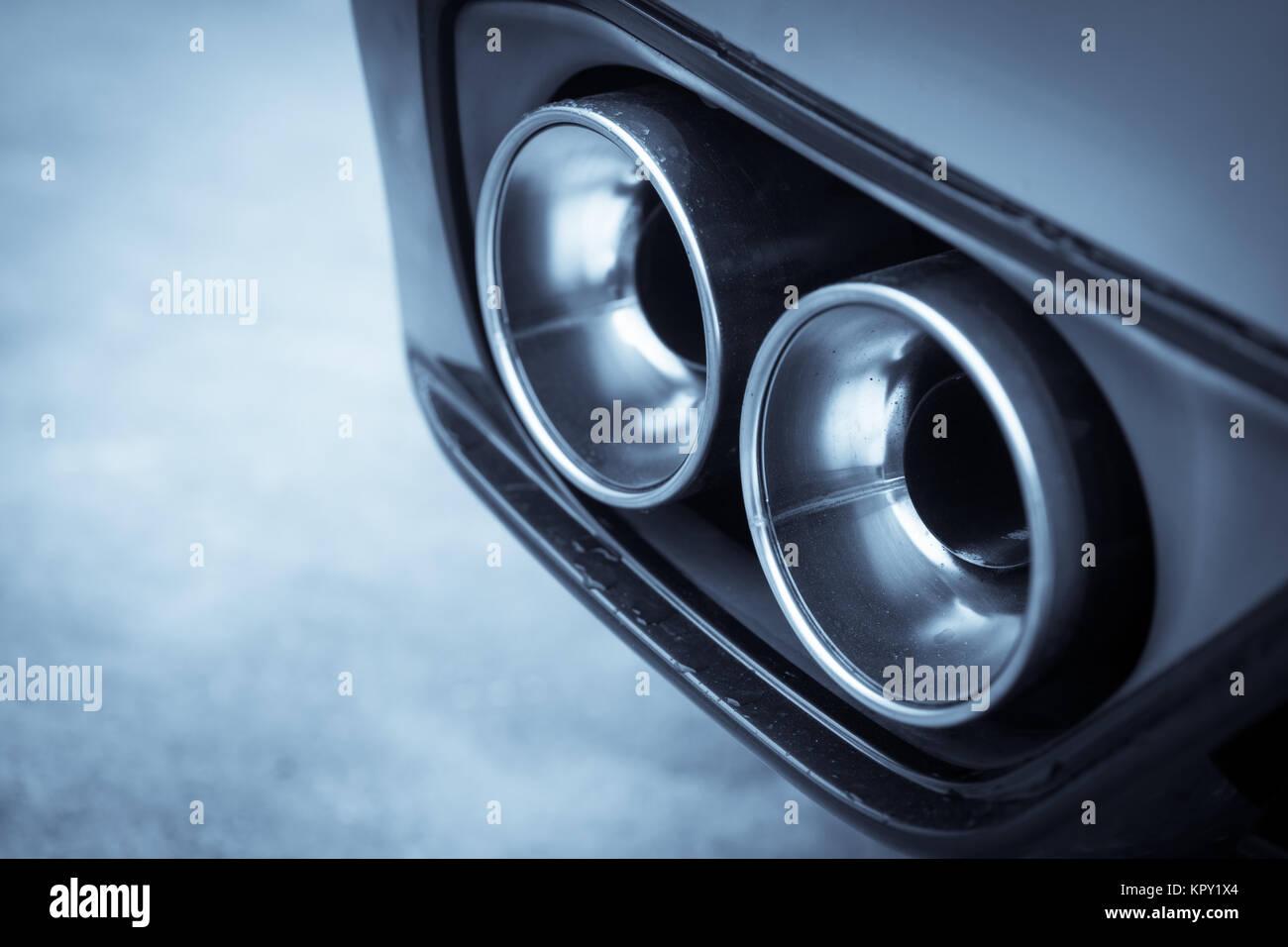 Photo Car Exhaust Pipe Stock Photos & Photo Car Exhaust