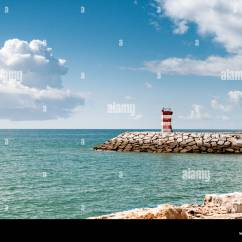 Lidl Fishing Chair Posture Sitting Standing Design And Exercise Quarteira Stock Photos Images Alamy