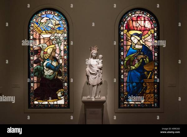 Stained Glass Art Display