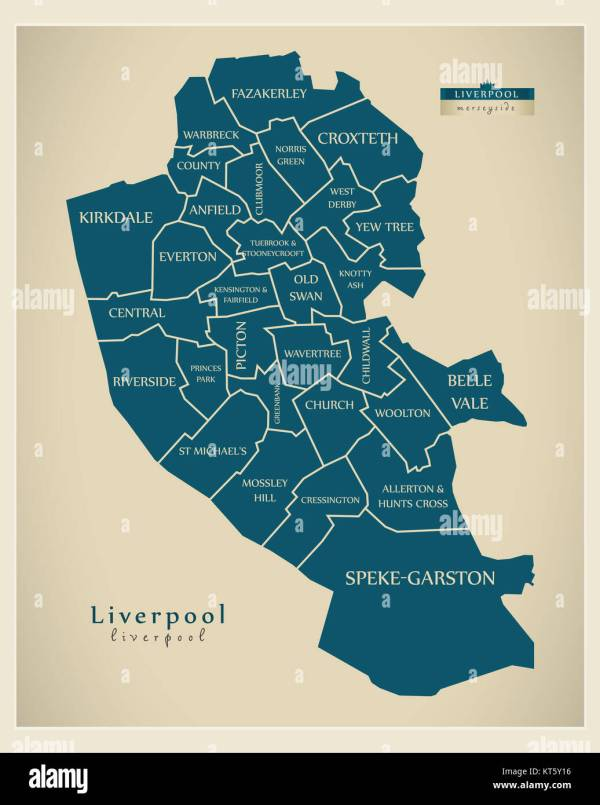 Map Of Liverpool Stock Photos amp Map Of Liverpool Stock