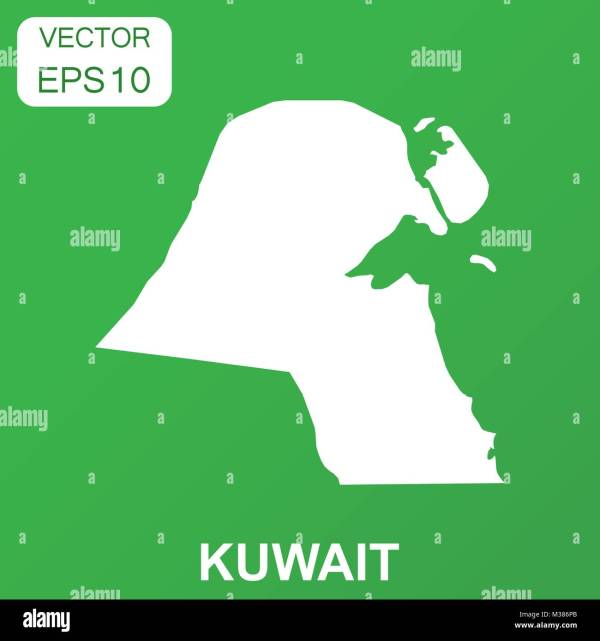 Kuwait City Map Vector - Year of Clean Water