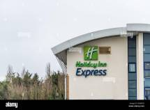 Holiday Inn Express Sign Stock &