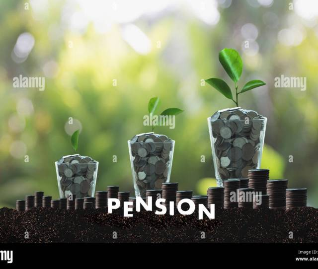 Pension Money Savings Financial Concept And Retirement And People Investment Growing Stock Photo  Alamy