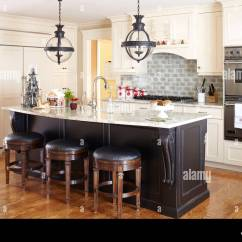 Kitchen Island Stool Wall Cabinets Bar Stools At Breakfast In Traditional Style Fairfield New Jersey Usa