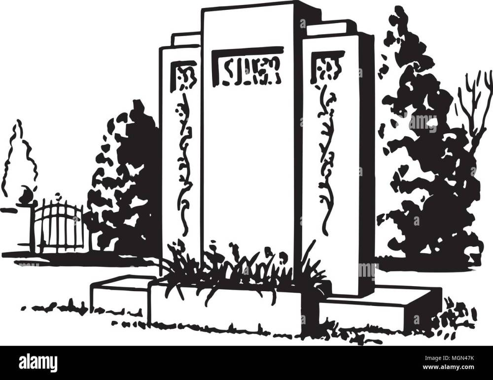 medium resolution of tombstone 3 retro clipart illustration
