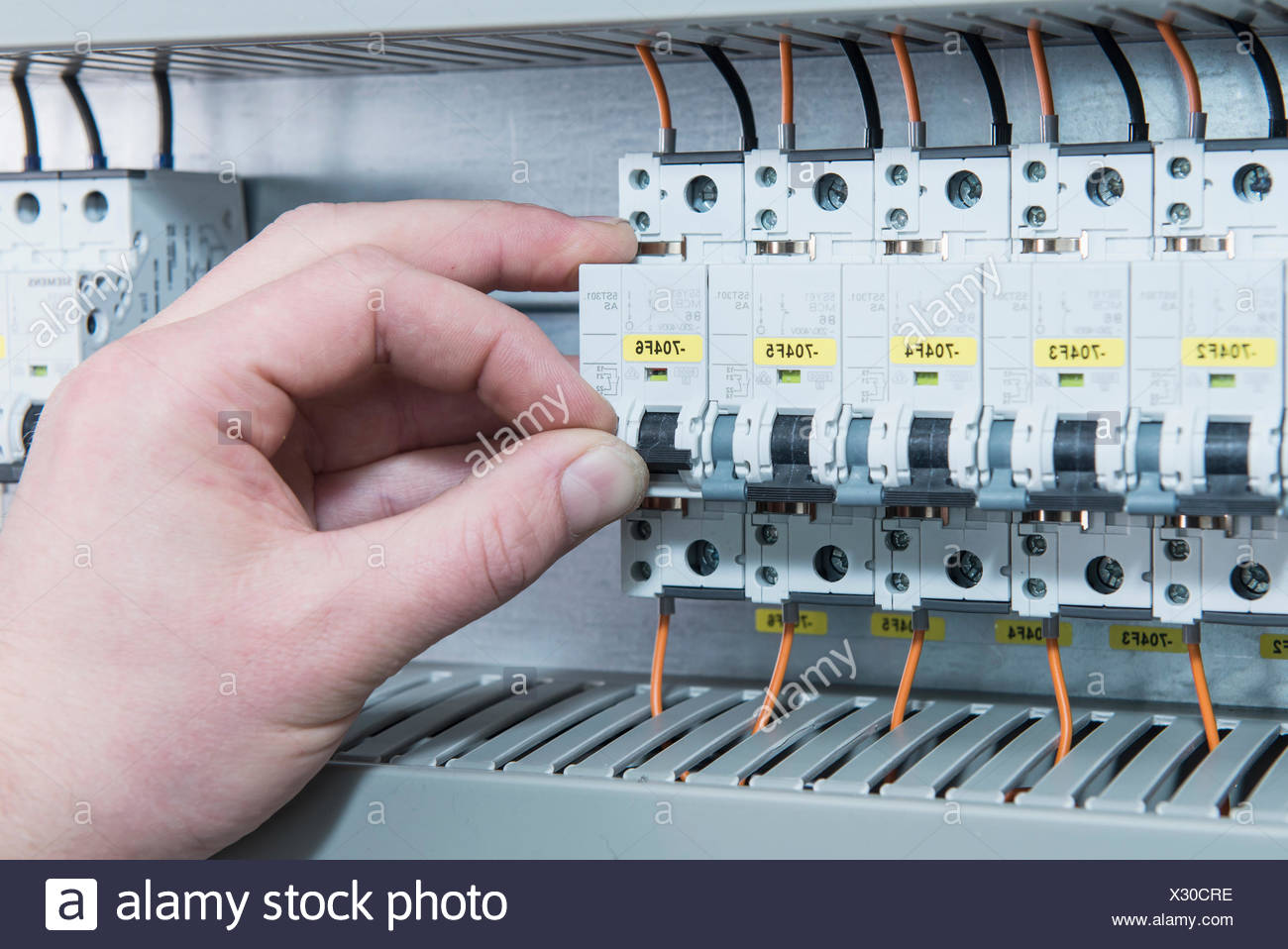 hight resolution of german fuse box wiring diagram show close up of electrician switching electrical fuse in distribution german