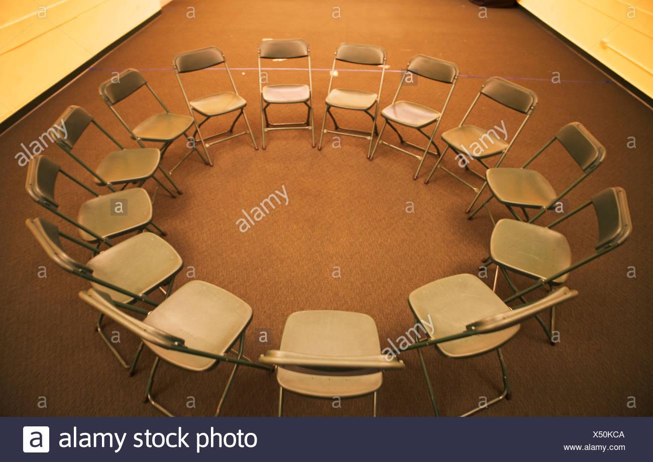 folding circle chairs adirondack diy empty in stock photo 278454410 alamy