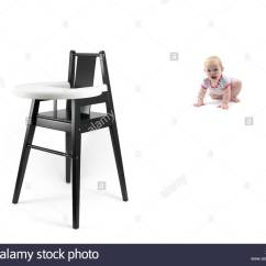High Chairs For Small Babies Best Posture Work Chair A Baby Girl And Stock Photo 278989000 Alamy