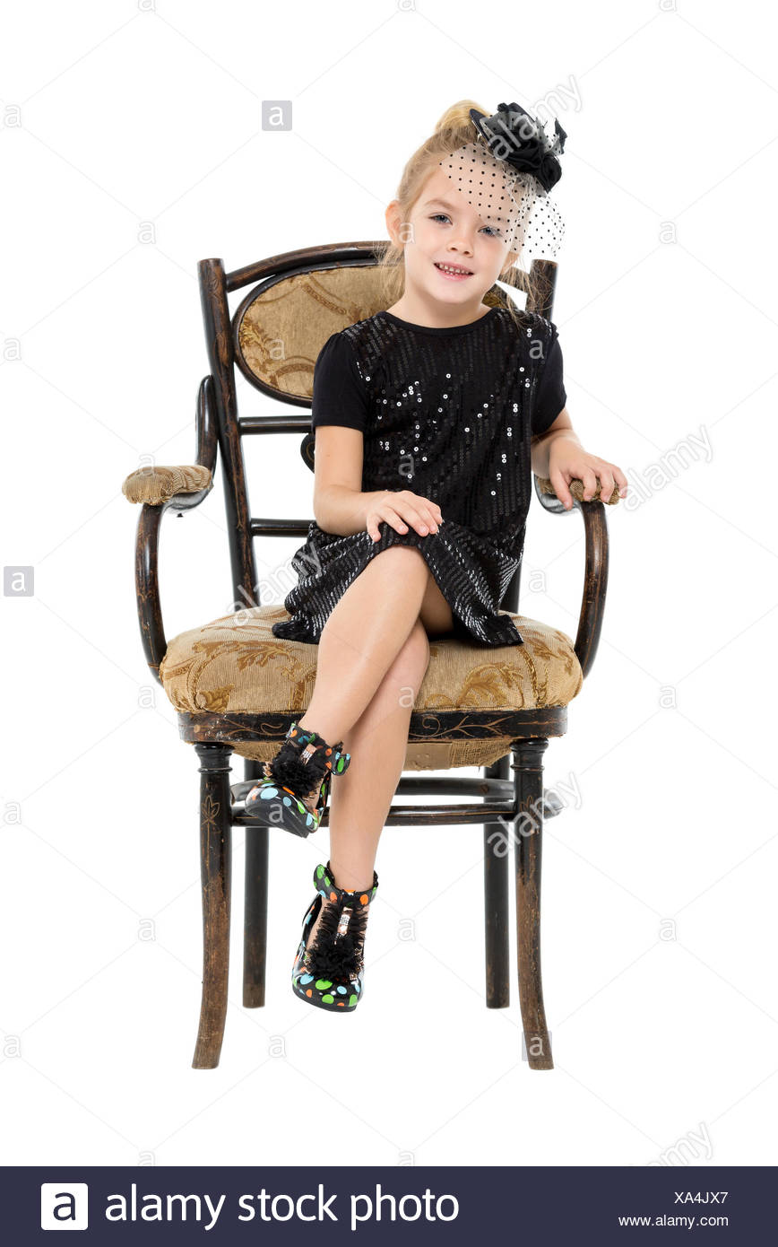 little girl chairs wheelchair user in space sitting antique chair stock photo 281615103 alamy