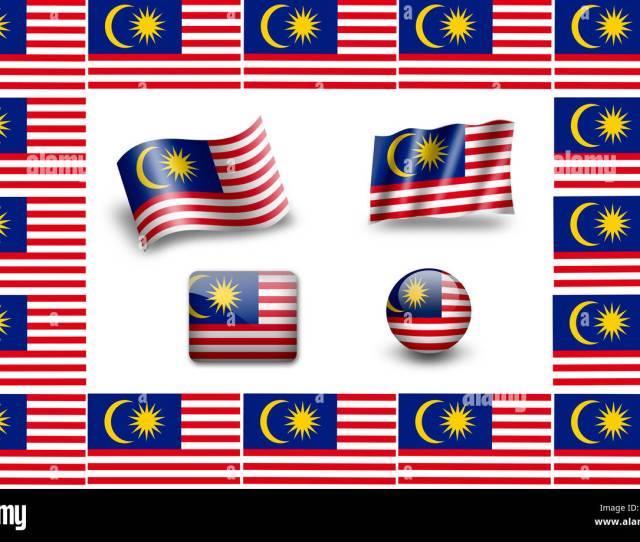 Bandera De Malasia Icon Set Marco Banderas