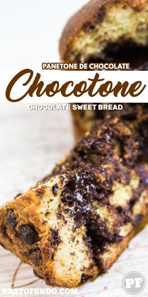 Chocotone: Panetone de Chocolate Tradicional e Recheado por PratoFundo.com