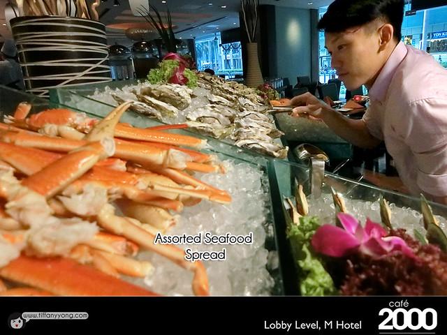 Hotel Christmas buffet M Hotel Cafe 2000 Christmas Buffet Seafood Peps Goh