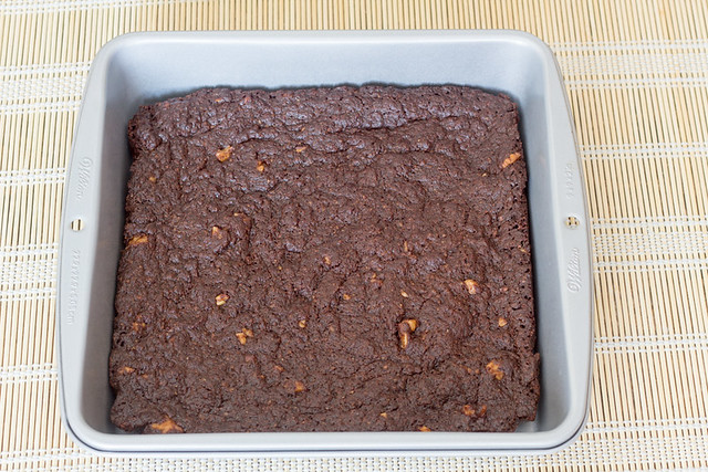 Brownie de chocolate y café con nueces