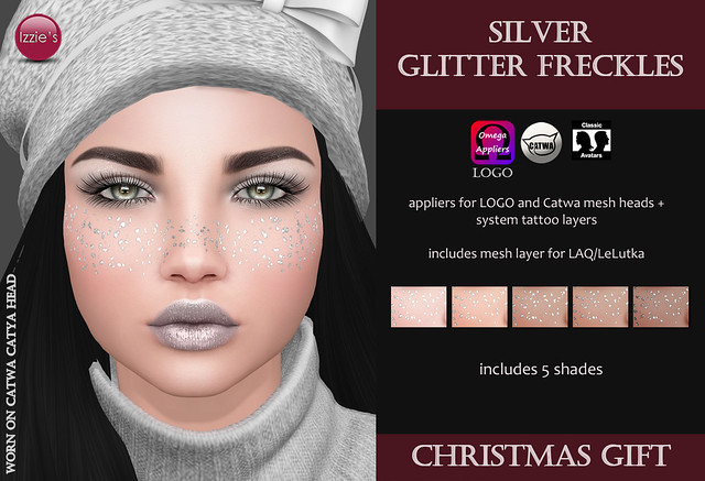 Silver Glitter Freckles (Christmas Gift)