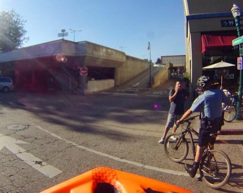 Bike Patrol in the street