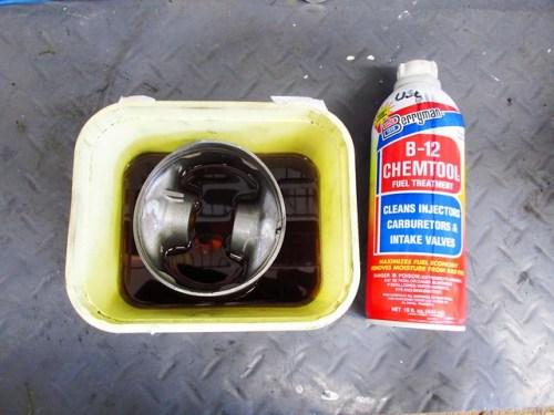 Soaking Piston To Remove Carbon