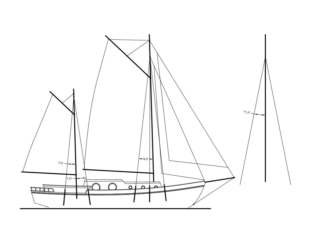 standing rigging diagram 07 gsxr 600 ignition wiring zuri converting over to a gaff rigged ketch page 2