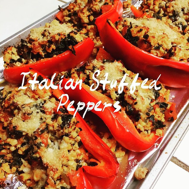 Another @dashingdish dinner tonight: Italian Stuffed Peppers! Super yummy!! #glutenfree #cleaneatingrecipes #lowcal