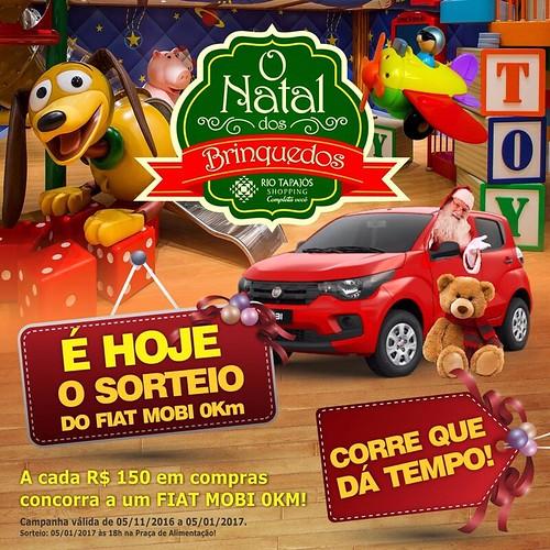 Rio Tapajós Shopping começa o ano de 2017 premiando, sorteio