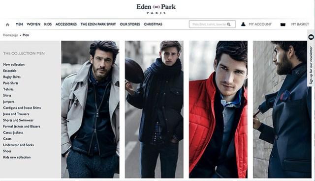 Eden Park Paris Website