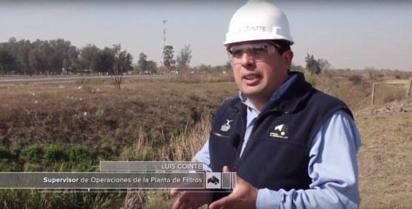 Luis Cointe Supervisor de Operaciones de la Planta de Filtros de Tucumán.