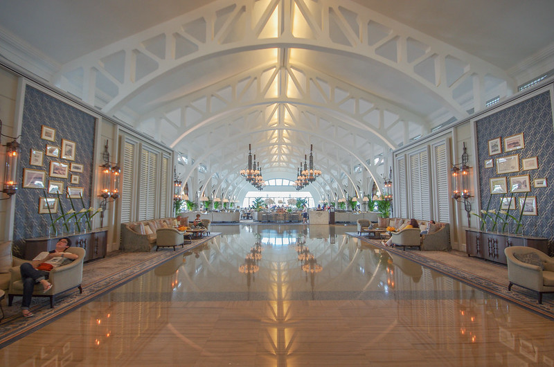 lobby of fullerton bay hotel