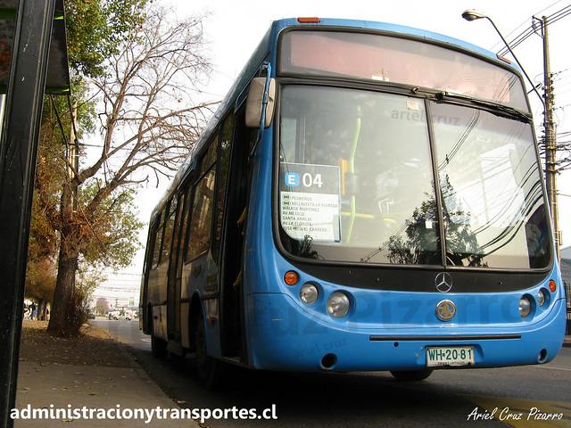 Transantiago E04 | Unitran | Metalpar Tronador - Mercedes Benz / WH2081