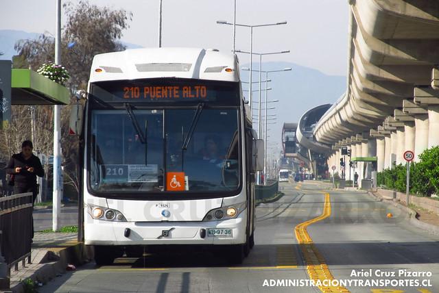 Transantiago - Subus Chile - Vía Exclusiva Vicuña Mackenna (Corredor) - Caio Mondego LA / Volvo (WB9736)