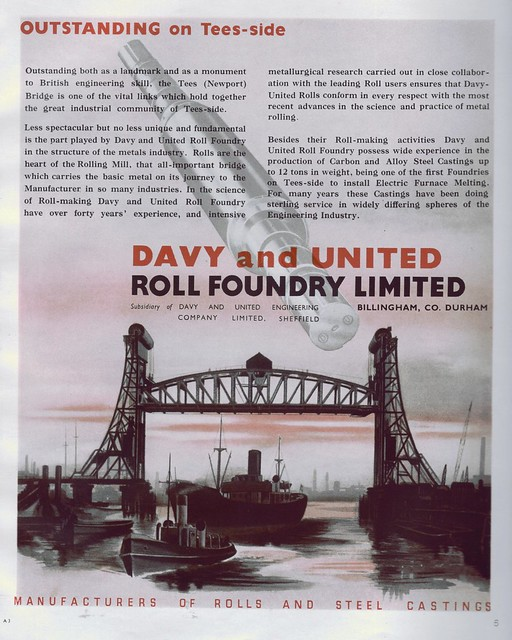 Davy and United, Roll Foundry, Billingham / Middlesbrough 1949