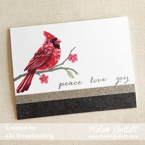 Color Layering Cardinal: Peace, Love, Joy