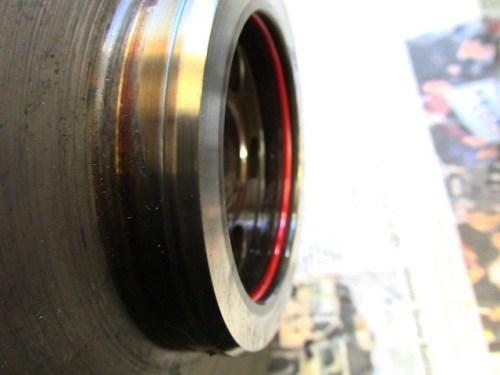 Groove Cut Into Flywheel By Rear Main Crankshaft Seal