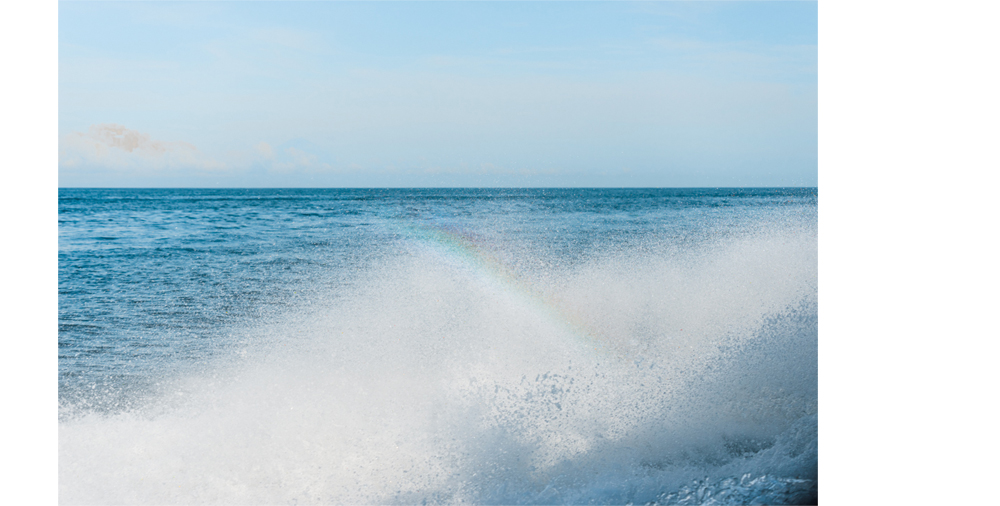 Rainbow in the sea