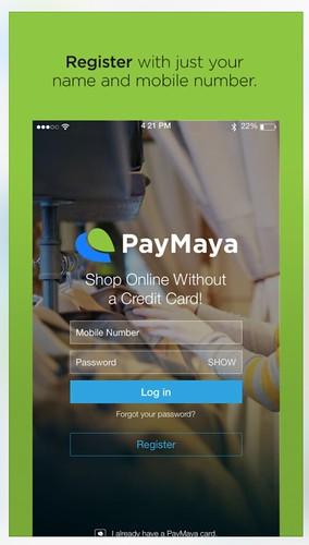 PayMaya login page