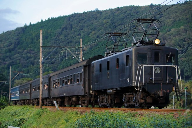 Oigawa Railway E101+Old passenger car