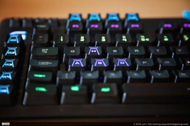Some keys have a special shape, WASD keys have 3 edges ...