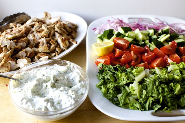 chicken gyro salad