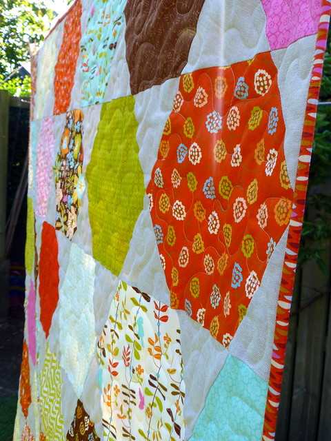 Autumn Hexie Stars Quilt