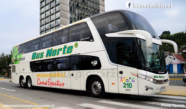 Bus Norte | Puerto Montt | Marcopolo Paradiso 1800 DD - Volvo / GCKV19 - 210 (Cama Ejecutivo)