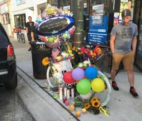 Ghost bike vigil for Virginia Murray
