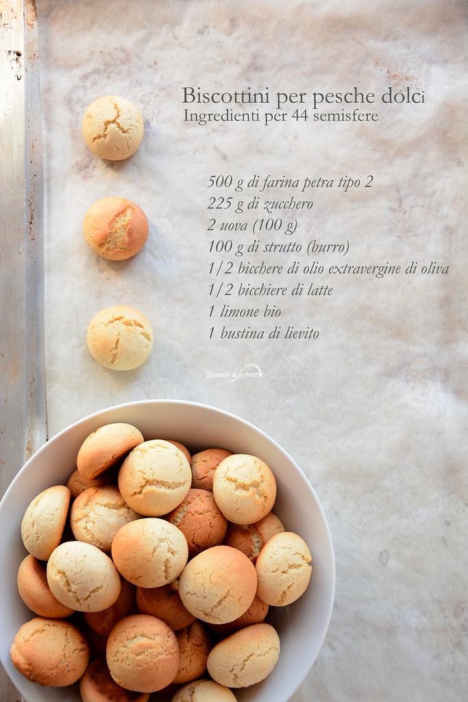 biscotti per pesche dolci