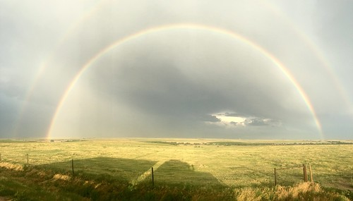 Rainbow to end the rain shower.