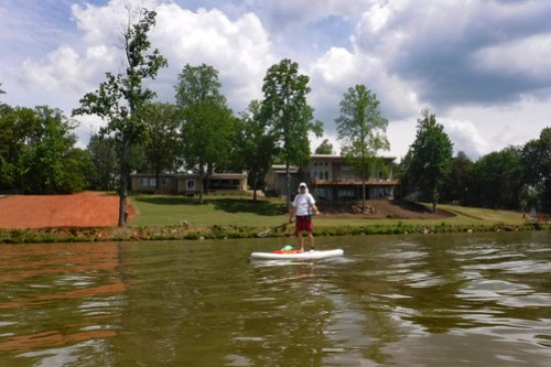 Kayaking and SUP on Saluda Lake-4
