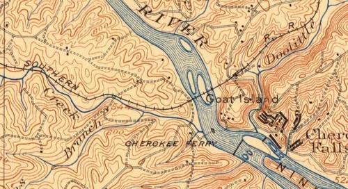 1909 Gaffney Quad - Cherokee Falls