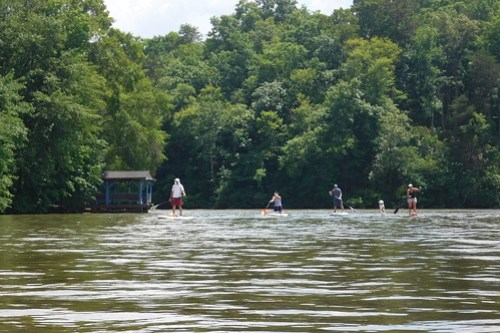 Kayaking and SUP on Saluda Lake-3
