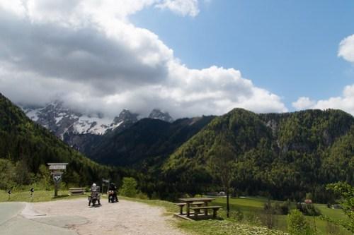 Seebergsattel mit Ausblick auf den Grintovec