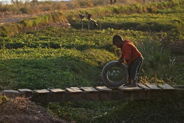 Boy with Wheel