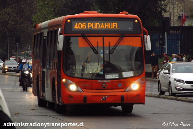 Transantiago - 406 | Express | Marcopolo Gran Viale - Volvo (Biportal) / FLXP38