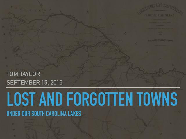Lost And Forgotten Towns Under South Carolinas Lakes Random