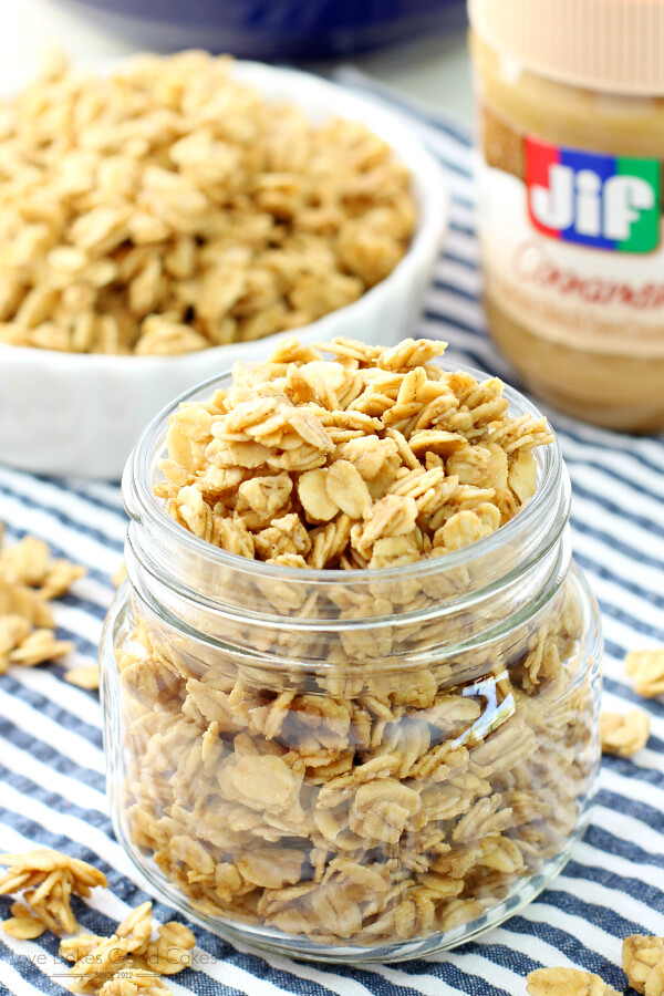 Peanut Butter Granola {Love Bakes Good Cakes}
